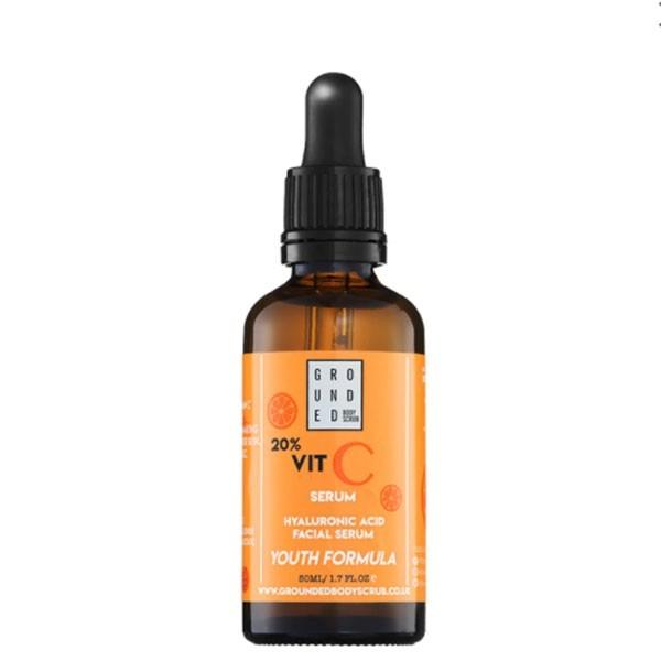 Grounded C vitamiini ja hüaluroonhappega vananemisvastane näoseerum