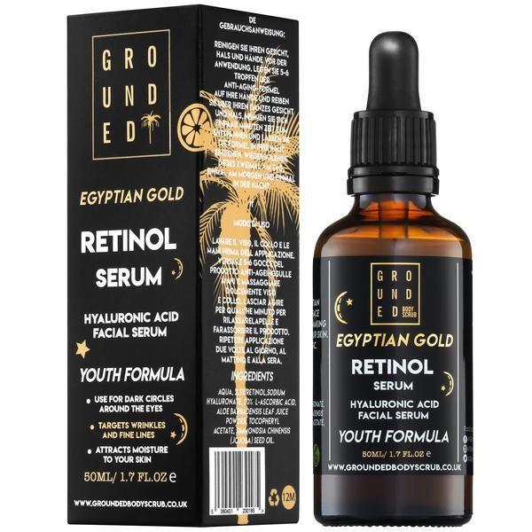 Grounded Egiptuse kulla ja retinooliga vananemisvastane näoseerum