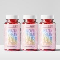 Hairburst Unicorn juuksekasvu vitamiinid