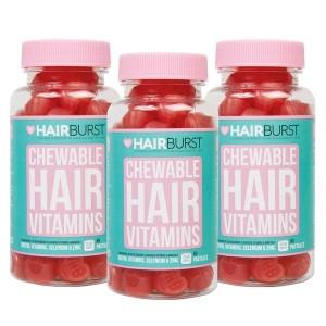 Hairburst Hearts plaukų augimą skatinantys vitaminai (3 mėnesiams)
